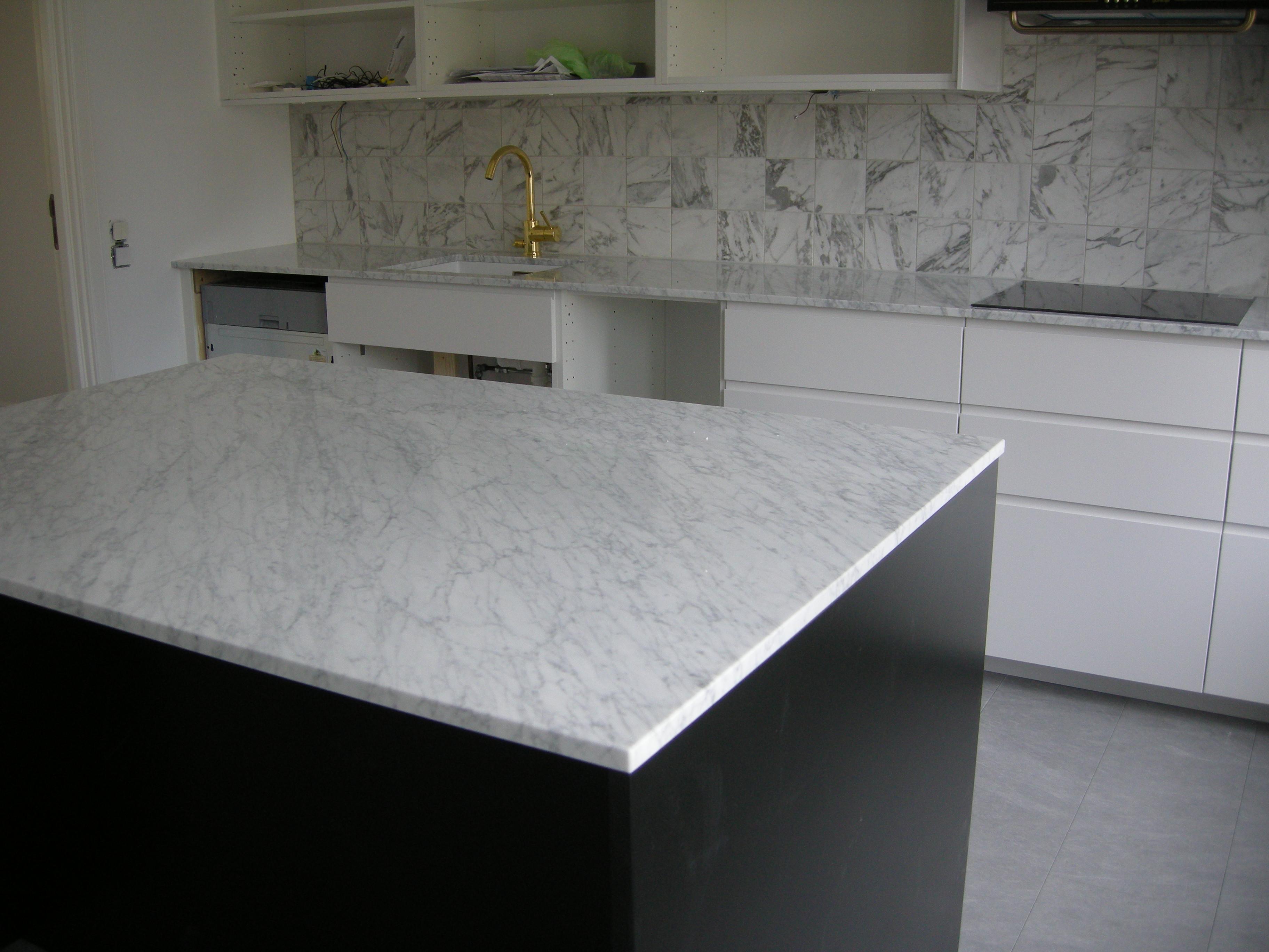 Köksrenovering- Vallentuna- bänk med marmorskiva
